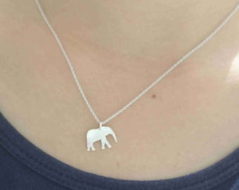 999 sterling silver elephant Necklace,Tiny elephant Necklace,baby Elephant Necklace,Elephant Jewelry, Animal Lover gift S62N