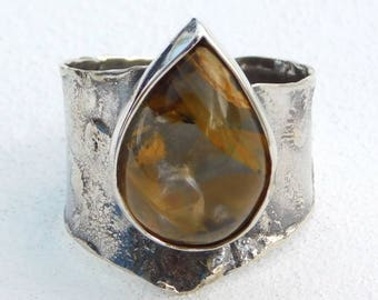 Crying Winds, Ring, silver 925, Moss Agate