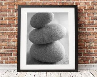 Pebble Photograph print, black and white photography, beach photography, Seaside print, original monochrome print, 3 for 2 on all prints