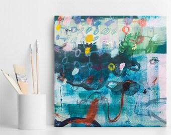 Abstrakte Malerei, kleine Leinwand Malerei, Kunst, abstrakte kunstgeschenk, zeitgenössische Kunst, Wohnkultur Wandkunst, Duealberi auf Leinwand