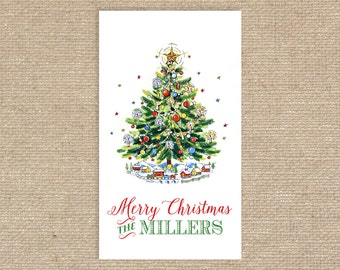25 Personalized Christmas Tree Gift Tags