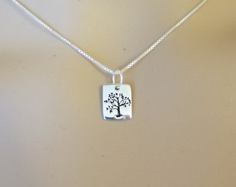 Tiny Sterling Silver Tree of Life Necklace, Family Tree Necklace, Gift for Mom, Gift for Sister, Grandma gift