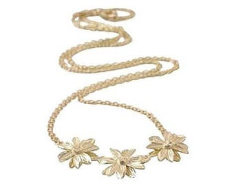"10K Gold 17"" Daisy Necklace"