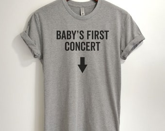 CUSTOM - Baby's First Concert T-shirt