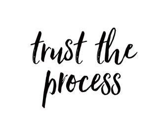 trust the process printable wall art, LANDSCAPE, DIGITAL download, mantras, quotes, inspirational quotes, spiritual, law of attraction