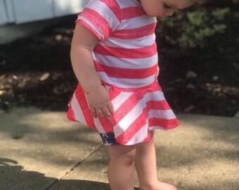Patriotic peplum tops and shorties