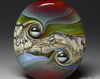 Lampwork Glass Focal Bead - Whitney Lassini