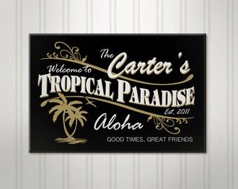 Personalized Tiki Bar Sign, ManCave Pub Sign, Beer Sign, Man Cave Sign, Personalized Sign, Personalized Bar Decor