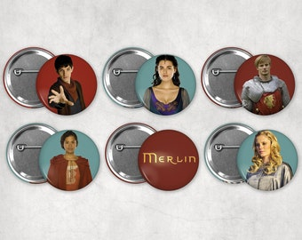 1.25in BBC's Merlin Buttons