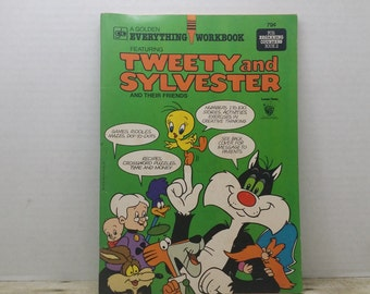 Tweety and Sylvester and their friends, Everything workbook, 1979, Unused