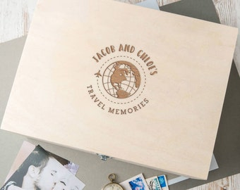 Personalised Couples Travel Memento Box