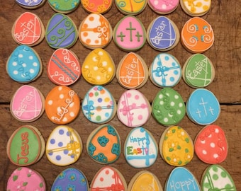 Easter,  Easter Egg decorated cookies