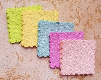 3x3 inch, Scallop Embossed Squares. #AL-46