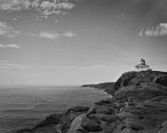 Newfoundland Art, Lighthouse Photography, Landscape Art Prints, Cape Spear Art, Newfoundland Photography, Black And White Photography