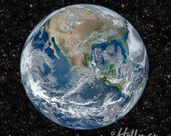 Hoffman - Earth - Q4407-58 - Out Of This World - Digital Print - Panel - Space - Galaxy - World - One More Yard