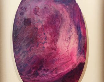 Magenta Fluid Oval Canvas