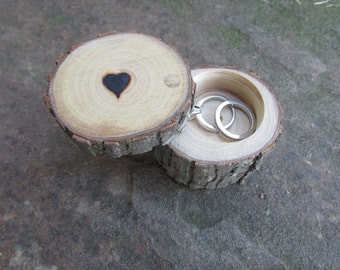 Personalized Wedding Ring Box, Engagement Ring Box ~ Made from Reclaimed Elm or Oak