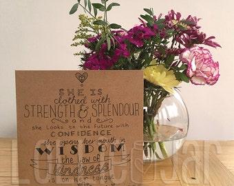 Bespoke Bible Scripture Typography Design Card