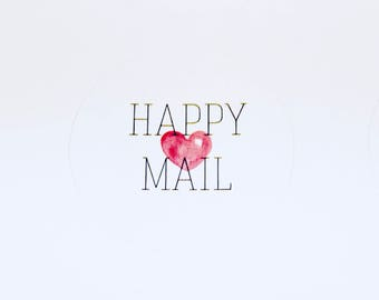 Happy Mail Stickers | Packaging Labels | Mail Labels | Cute Stickers | Envelope Seal | Poshmark & Mercari Sellers!