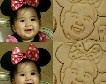 Your Face on a Cookie, Custom Selfie Portrait Cookie Cutter Custom Portrait Fondant Cookie Cutter