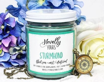 Sturmhond   9oz jar   Grisha, Siege and Storm, Nikolai Inspired Soy Candle   Book Candle   Bookish Gift