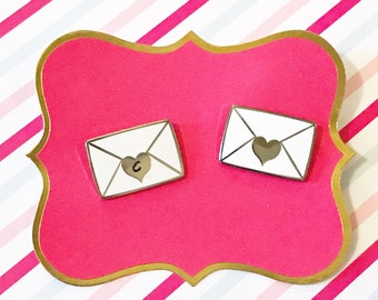 Valentine Love Letter Hard Enamel Pin