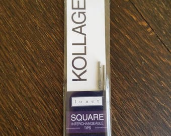 Kollage square knitting needles  square interchangeable knitting needle tips  square circular knitting long tips size US 9 5.5mm needle