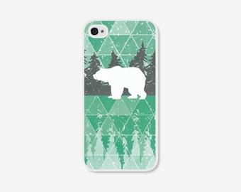 iPhone 5 Case - iPhone 5c Case - Geometric Phone Case - Mint Green Polar Bear - Geometric iPhone 4 Case - Geometric iPhone 5c Case