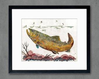 Brown Trout II Art Print on Paper