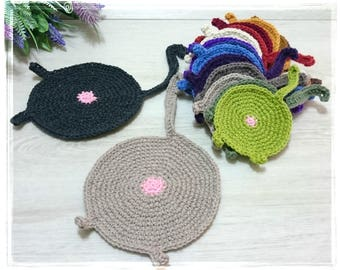 Funny Cat Coaster, Cat Butt, Cat Butt Coaster, Cat Lady Coaster, Crochet Wool Cat Butt Coasters, Cat Bum Coaster, Kitty Doily Cat Lover Gift