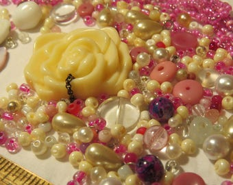 Faux Pearl and Pink Beads Collection