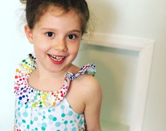 Science Dress | DNA | Genetics | Chemistry | Sun Dress | Ruffle Dress| Stem Clothing | Nerd Gift | Baby Gift | March for Science