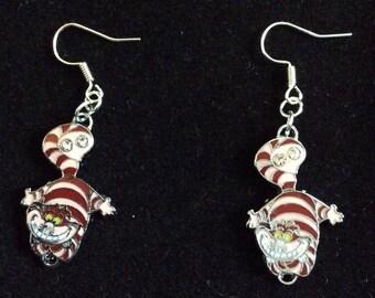 Cheshire cat of Alice in Wonderland earrings