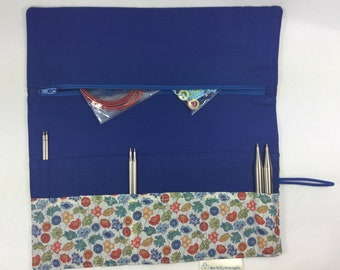 Interchangeable needle case, addi needle case, chiagoo needle case, knit pro needle case, hiya hiya case, liberty needle case, needle tips