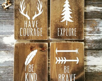 Woodland Nursery Decor Rustic Home Decor Farmhouse Decor Wall Hangings Wall Decor Wood Sign Country Home Wall Hanging Childrens Room Decor