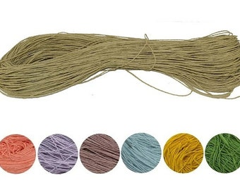 Yarn Raffia Natural yarn 100g 100% cellulose yarn natural raffia straw yarn thatch yarn haulm yarn  tape yarn lace yarn ribbon yarn paper
