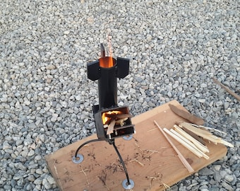 Inferno Rocket Stove - Auto Feeding Collapsible Backpackers Spider Base Rocket Stove