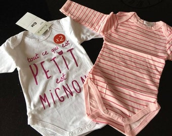 lot of 2 Body long sleeves girls 6months NEW