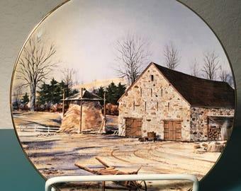 Bucks County Barn collectors plate