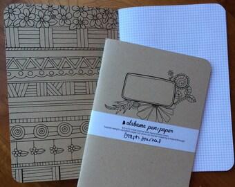 Medium-Size Hand-Drawn (graph) Journal