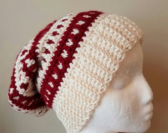 Red Wine Slouchy Beret Hat - Ready to be Shipped