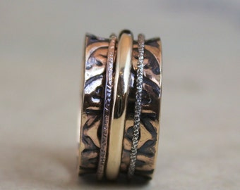 Majestic 14K Rose Gold Spinner Ring