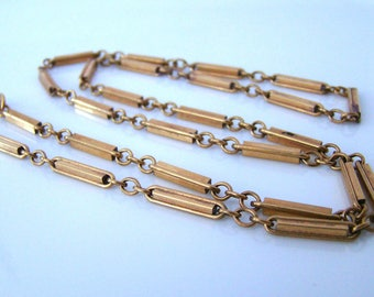 Fine Antique Gold Filled Chain Necklace