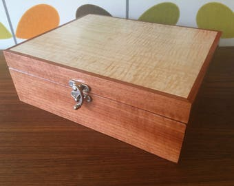 Jewelry Box or Valet Box--Figured Maple and Makore