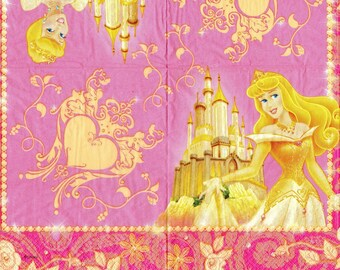 386 - Paper napkin - Princess Castle