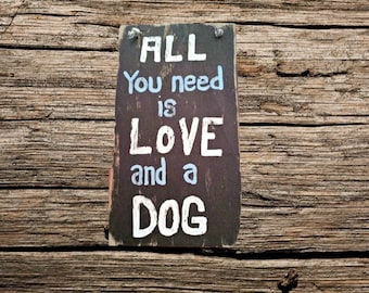 Dog love handmade wood - custom wood dog sign - handmade custom wood sign - love dogs wood sign - wood sign under 25 - wood sign for women