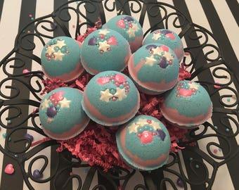 Unicorn Bath Bombs, Cotton Candy Bath Bombs, Bath Bomb Set of 12