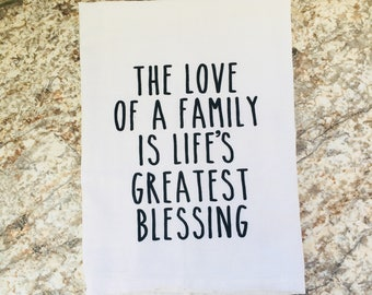 Love Of A Family Dish Towel Flour Sack Tea Towel