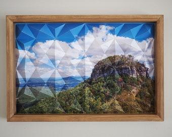 Pilotscape -sacred geometry 3D origami folded photography art