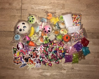 Slime Extra Extras Beads Foam Balls Slushee Squishies Glitter Stickers Slow Rising Squishy Stress Relief #CheapSlime